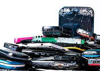 Reciclagem de bateria de celular